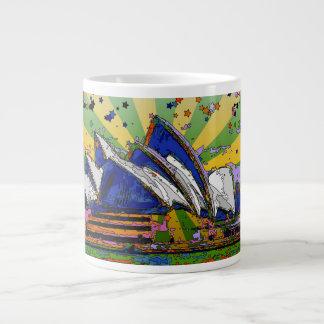 Psychedelic World: Sydney Australia Skyline A2 Large Coffee Mug