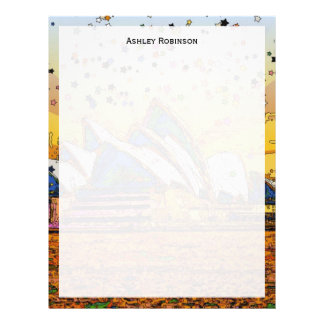 Psychedelic World: Sydney Skyline A1 Custom Letterhead