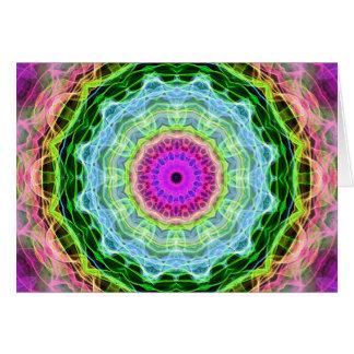 Psychedelic Wormhole kaleidoscope Card