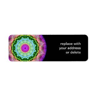 Psychedelic Wormhole kaleidoscope Label