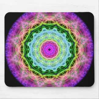 Psychedelic Wormhole kaleidoscope Mouse Pad