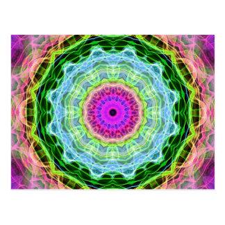Psychedelic Wormhole kaleidoscope Postcard