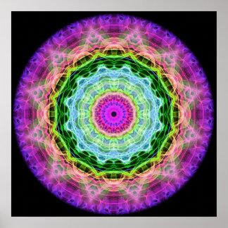 Psychedelic Wormhole kaleidoscope Poster