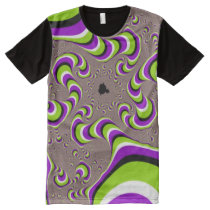 Psychedelic Wormhole Optical Illusion Pattern All-Over-Print Shirt