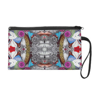 PSYCHEDELIC WRISTLET PURSE