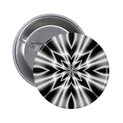 Psychedelic X-Ray Flower 2 Inch Round Button