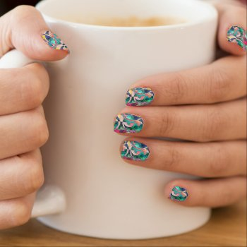 Psychedelic Yin Yang Shapes Minx Nail Wraps by RainbowChild_Art at Zazzle
