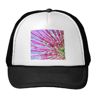 Psychedelic Yucca Abstract Red Trucker Hat