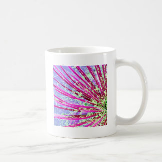 Psychedelic Yucca Abstract Red Classic White Coffee Mug