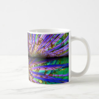 Psychedelic Yucca Quilt Classic White Coffee Mug