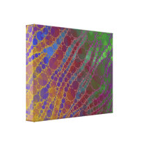 Psychedelic Zebra Abstract Pattern Canvas Print