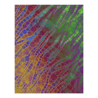 Psychedelic Zebra Abstract Pattern Letterhead