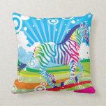 Psychedelic Zebra Pillow
