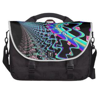 Psychedelic Zig Zag Spider Web Fractal Laptop Bag