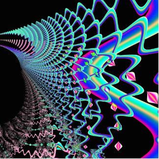 Psychedelic Zig Zag Spider Web Fractal Statuette