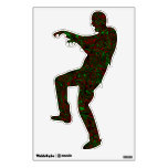 Psychedelic zombie wall decal