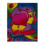 psychedelicHeart Tarjeta Postal