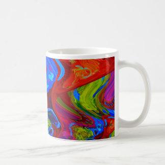 psychedelicly coloured mug