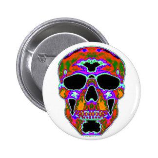 Psychedellic Skull 2 Inch Round Button
