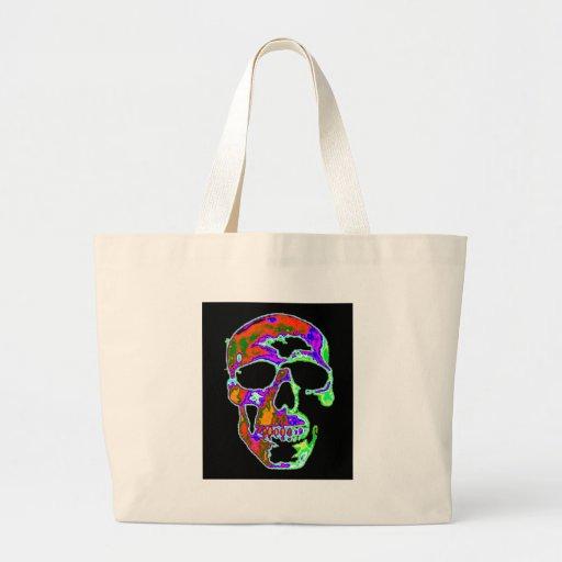 Psychedellic Skull Jumbo Tote Bag