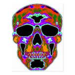 Psychedellic Skull Post Card