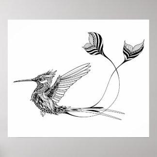 Psychedlic Bird Tattoo 2 Poster