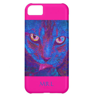 psychedlic cat  pink - iphone case iPhone 5C cover
