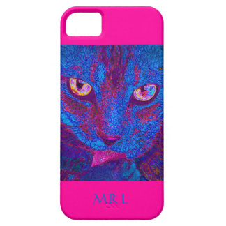 psychedlic cat  pink - iphone case iPhone 5 cover