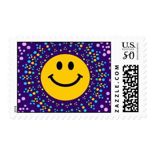 Psychedlic Happy Hippy Smiley Postage