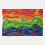 Psychedlic Hippy Rainbow Acid Trip Hand Towel