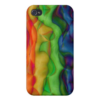Psychedlic Hippy Rainbow Acid Trip iPhone 4 Covers