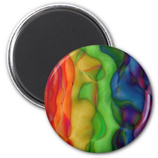 Psychedlic Hippy Rainbow Acid Trip Magnet