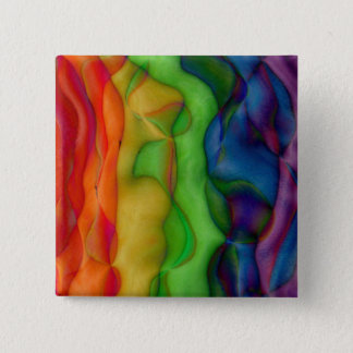 Psychedlic Hippy Rainbow Acid Trip Pinback Button