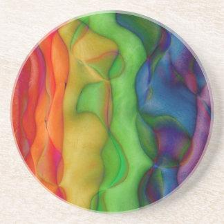 Psychedlic Hippy Rainbow Acid Trip Sandstone Coaster