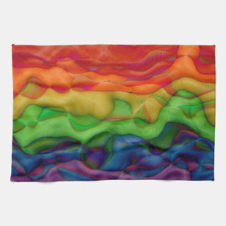 Psychedlic Hippy Rainbow Acid Trip Towel
