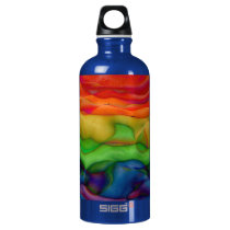 Psychedlic Hippy Rainbow Acid Trip Water Bottle
