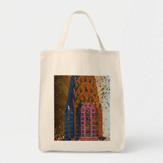 Psychedlic NYC: Chrysler Building Top Closeup #1 Tote Bags