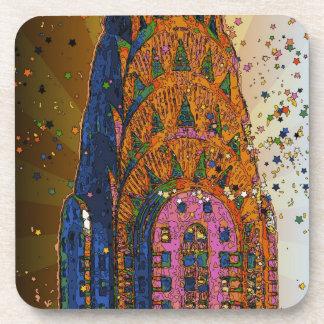 Psychedlic NYC: Chrysler Building Top Closeup #1 Beverage Coaster