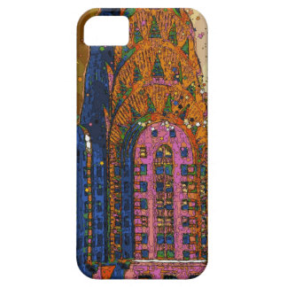 Psychedlic NYC: Chrysler Building Top Closeup #1 iPhone 5 Case
