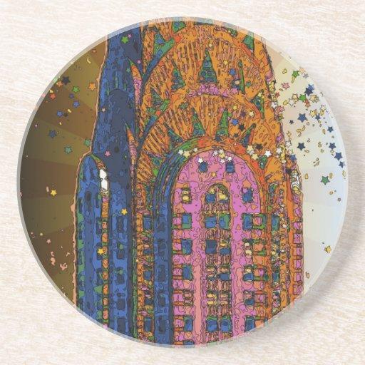 Psychedlic NYC: Chrysler Building Top Closeup #1 Coaster