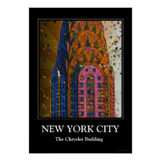 Psychedlic NYC: Chrysler Building Top Closeup #1 Posters