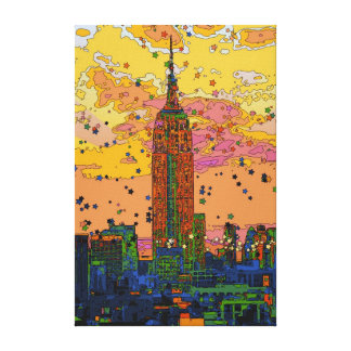 Psychedlic NYC: Empire State Building #1 Canvas Print