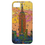 Psychedlic NYC: Empire State Building #1 iPhone 5 Cárcasas