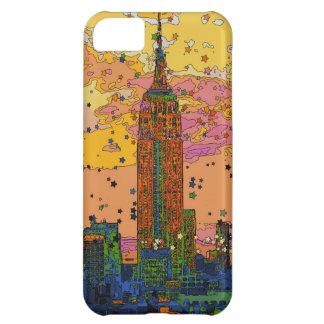 Psychedlic NYC: Empire State Building #1 Funda Para iPhone 5C