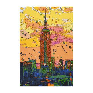 Psychedlic NYC: Empire State Building #1 Impresion En Lona