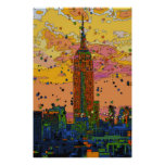 Psychedlic NYC: Empire State Building #1 Poster
