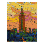 Psychedlic NYC: Empire State Building #1 Tarjeta Postal