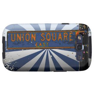 Psychedlic NYC: Placa de calle cuadrada A1 de la u Galaxy S3 Coberturas