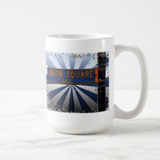 Psychedlic NYC: Union Square Street Sign A1 Coffee Mug