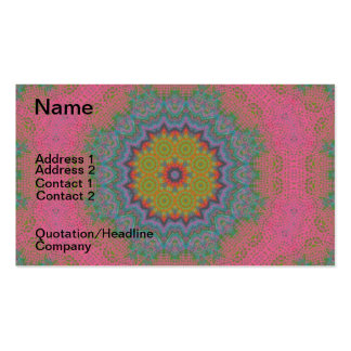 Psychedlic Pink Lace Fractal Mandala Double-Sided Standard Business Cards (Pack Of 100)